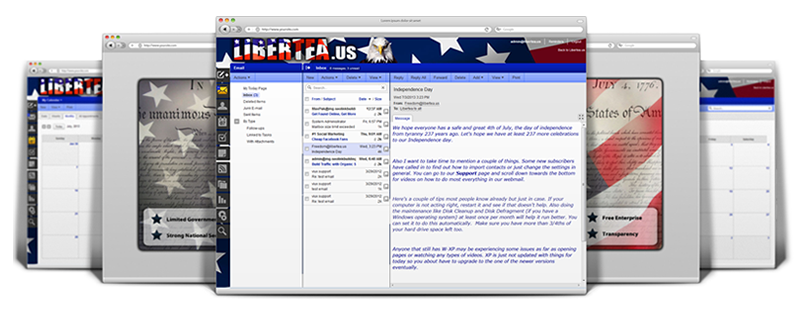 Libertea webmail interface